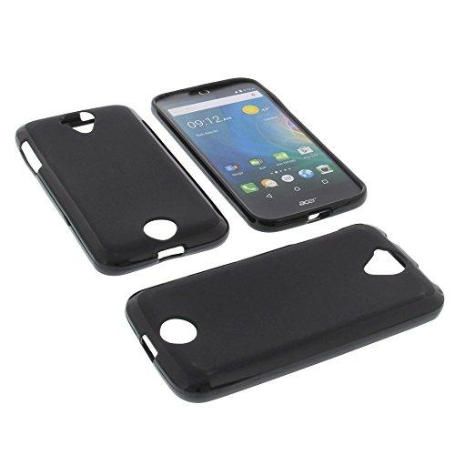foto-kontor Tasche für Acer Liquid Z330 Liquid M330 Gummi TPU Schutz Hülle Handytasche schwarz