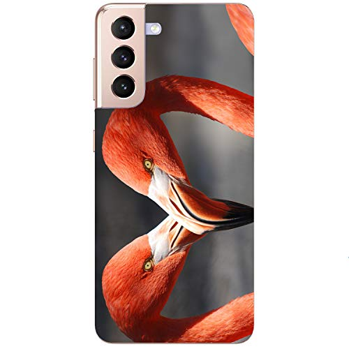 Generisch Funda blanda para teléfono móvil Flamingo Love Pareja Amor Rosa para Samsung Apple Huawei Honor Nokia One Plus Oppo ZTE Xiaomi Google, tamaño: Apple iPhone 6/6S
