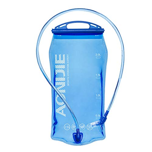 AONIJIE Faltbare 1L/ 1.5L/ 2L/3L Trinkblasen Wasserbeutel PEVA Hydratation Blasen für Camping Wandern Reiten und Klettern (1.5L)
