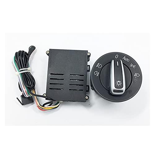 binbin Interruptor de Luces de automóvil + Chromo Auto Sensor Light Ajuste for Passat B5 Bora Polo Golf 4 Nuevo Jetta Beetle 5ND 941 431 B