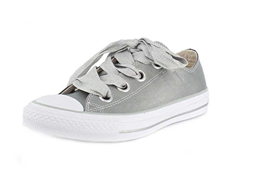 Converse Chucks Silber 561695C Chuck Taylor All Star Big Eyelets OX Metallic Silver Silver White, Groesse:37 EU / 4.5 UK / 4.5 US / 23.5 cm