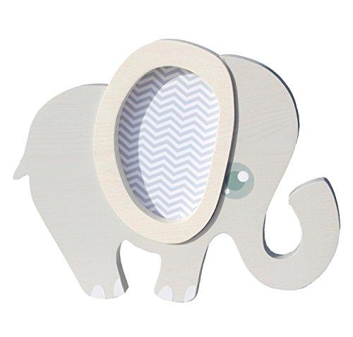 Clevere Kids Kinder Wandlampe Alle Meine Tiere Holz Handarbeit A++ (Elefant grau)