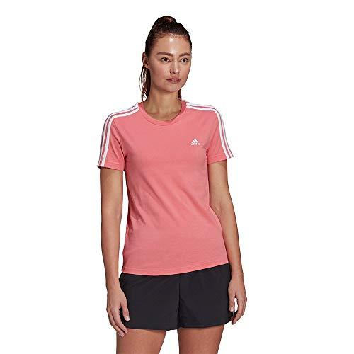 adidas Damen W 3s T Shirt, Hazy Rose/White, S EU