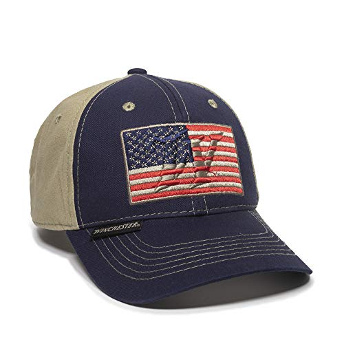 Outdoor Cap WIN48A, Navy/Khaki, One Size Fits Most