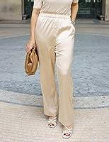 The Drop Pantalón para Mujer sin Cierre, Arena, por @sabthefrenchway,S