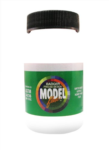 Badger Air-Brush Co. 26-107 2-Ounce Modelflex Automotive Airbrush Ready Water Based Acrylic Paint, Gloss White