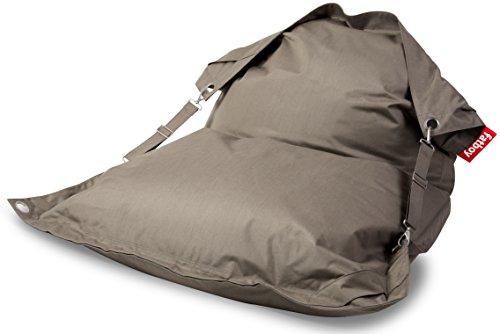 Fatboy Buggle-Up Outdoor Beanbag | Le Pouf polyvalentI Banquette et Pouf en Un | 180 x 140 cm | Polyester I Résistant aux UV, à l'eau et aux salissures I Taupe