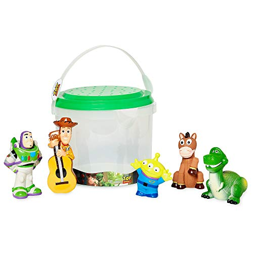 Disney Official Store Toy Story Deluxe Bath Toy 5 Piece Set Tub Toy Playset