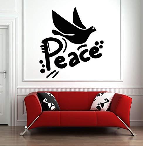 Etiqueta engomada de la pared del arte de la paz etiqueta engomada del vinilo del pájaro de la paloma etiqueta de la pared del patrón del pájaro de la paz