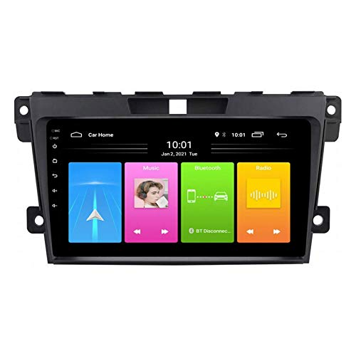 YLCCC Coche Estéreo Navegador Resistivo Digital FM Am Radio Receptor Player Multimedia con Mirror Bluetooth Link Llamada Contestación por Mazda CX7 2008-2015,4 Core 4g+WiFi: 1+32gb