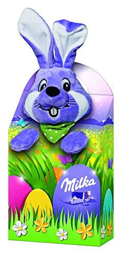Milka Plüschtier Magic Mix – Mischung aus beliebten zartschmelzenden Milka Osterprodukten – Bunte Mischung mit Plüschtier in drei zufällig ausgewählten Designs – 2 x 96g