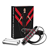 Champs MMA Boxing Weighted Jump Rope for Exercise – Skipping Rope with Adjustable Weights and...