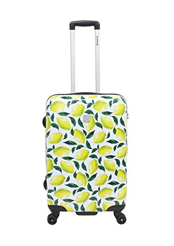 Viaccio Saxoline - Trolley rigido da viaggio, misura M, 67 cm, colore: giallo limone