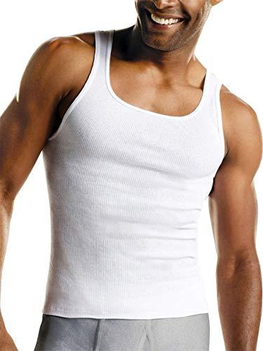 Hanes Men's Tagless Cotton Tank Undershirt-Multiple Colors