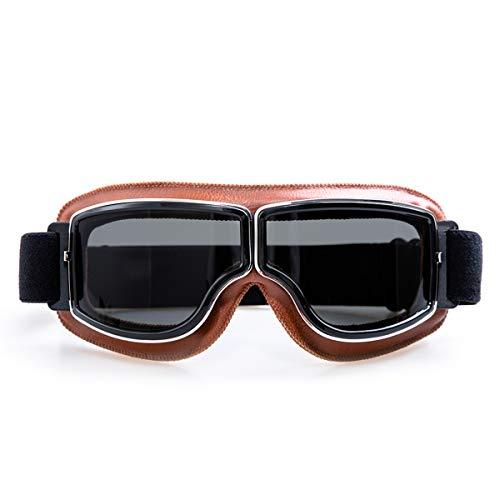 evomosa Motorradbrille Motorräder Retro Pilot Nebelsichere Brille ATV Bike Motocross Brille Schutzbrille