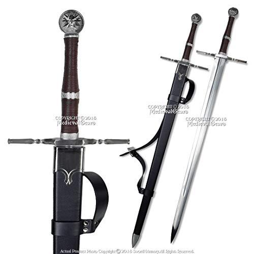 Medieval Gears 49' Geralt Sword Steel Blade Replica Sword w/Scabbard