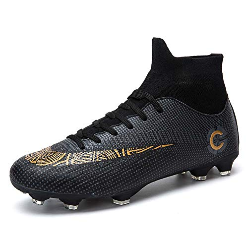Moulded Stud Football Boot,Boots Breatheable Cleats Soccer Shoes High-Top Sock Ankle Care Youth Boys//Gils Outdoor Football Training Sneakers Unisex Football