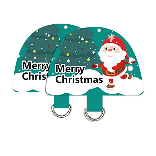 takyu Parche de Navidad – Tether – Pestaña para teléfono, correa de muñeca – 2 unidades