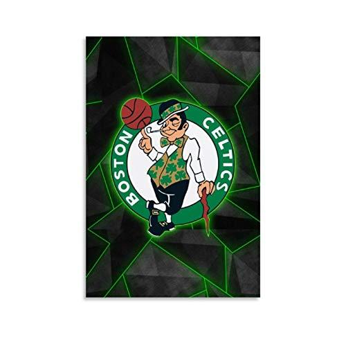 XIXILI Boston Celtics - Póster de baloncesto con el logotipo del equipo de baloncesto de la estrella del baloncesto y el equipo (30 x 45 cm)