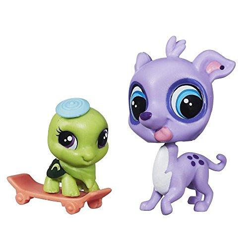 Littlest Pet Shop Duo GRIFFÉ - Speedy Carver ET Fast Freddie TORTINI Petshop #3808 - #3809