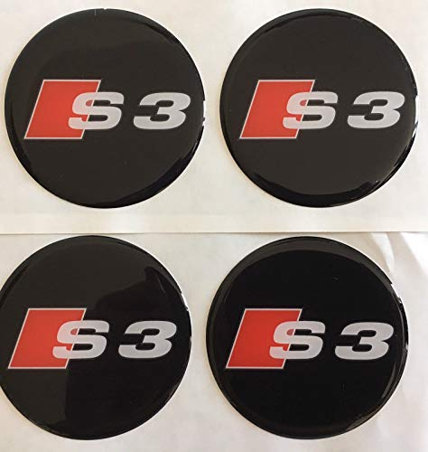 SCOOBY DESIGNS 4 Pegatinas para Centro de Llantas de aleación de Resina para Audi S3