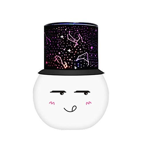 AOKARLIA Romantique Projecteur étoile Lampe LED Coloré Lumières de la Nuit Créatif Grande Ourse Lumières d'ambiance colorées - Couleur configurable,White