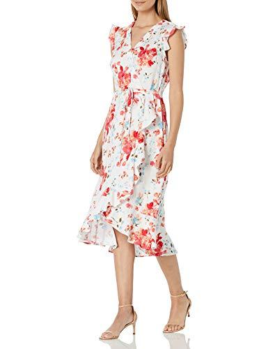 Karl Lagerfeld Paris Damen Short Sleeve Kleid, Paradise Pink Multi, 30