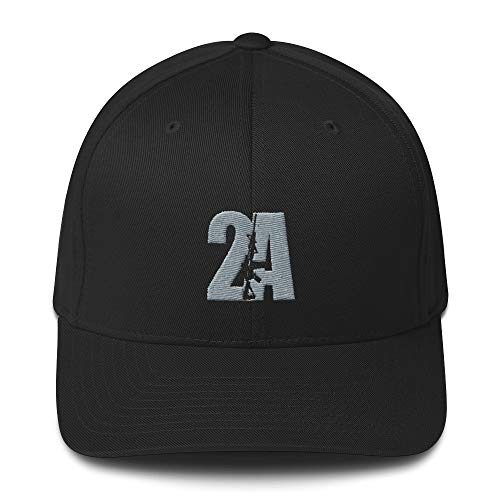 Pro-Gun 2nd Amendment 2A Structured Twill Cap Black