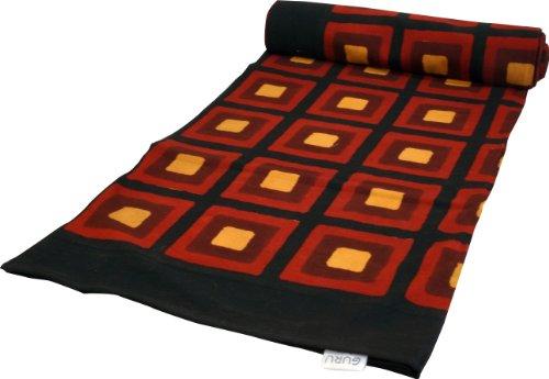 Guru-Shop Copriletto in Blockprint, Copriletto da Divano, Appeso a Mano, Asciugamano Rosso, Multicolore - Design 28, Cotone, Dimensioni: Singolo 150x200 cm, Copriletti con Stampa a Blocchi