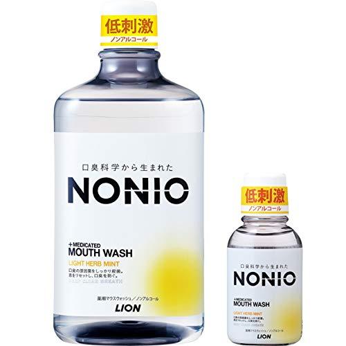 【Amazon.co.jp限定】NONIO(ノニオ) [医薬部外品] 口腔ノンアルコールライトハーブミントマウスウォッシュセット1,000ml +ミニリンス80ml