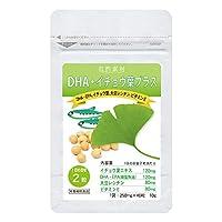 大日ヘルシーフーズ DHA EPA イチョウ葉 40粒入×1袋(20日分) 大豆レシチン ビタミンE 配合 サプリ