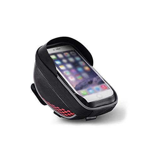 Nobrannd BTR Fietsstuur Fietstas Outdoor Sport Smartphone Tas MTB Racefiets Mobiele Telefoonhouder Met TPU Touch Screen Raam Voor 4-6 Inch Scherm Smartphone Touchscreen Opbergtas
