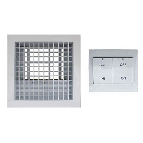 Rejilla ventilacion electrica aire acondicionado valvula conducto aire compuerta motorizada 220v (250x250mm)