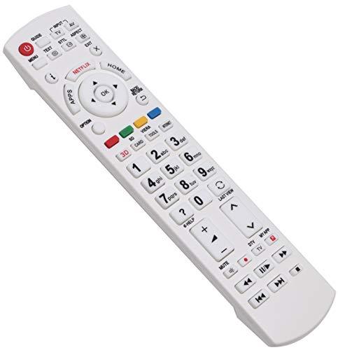 ALLIMITY N2QAYB000842 sub N2QAYB001009 Fernbedienung Ersetzt für Panasonic Viera LCD TV TX-40CX700B TX-40CXC725 TX-40CXR700 TX-40CXW684 TX-40CXW704 TX-40DS500ES TX-40DSF637 TX-40DSN638 TX-40DSX639