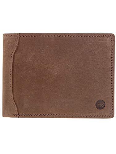 HC Herren Geldbörse Quer aus Büffel Leder RFID Schutz Vintage, Farben:braun