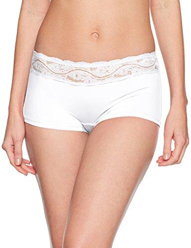 Triumph Damen Unterhemd Lovely Micro Short, Weiß (White 03), Gr. 40 (Herstellergröße: M)