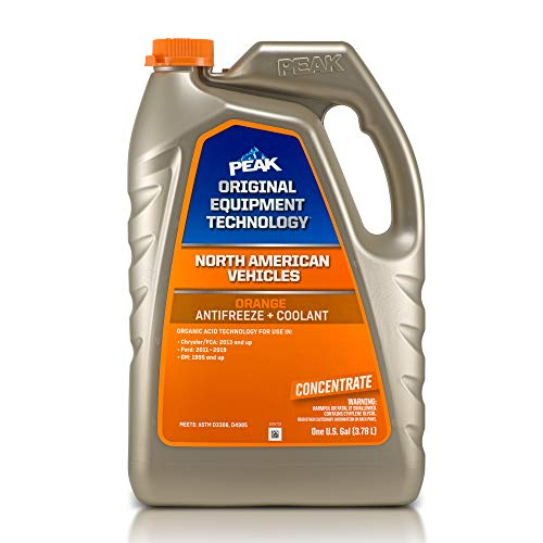 PEAK OET Extended Life Orange Concentrate Antifreeze/Coolant for North American Vehicles, 1 Gal.