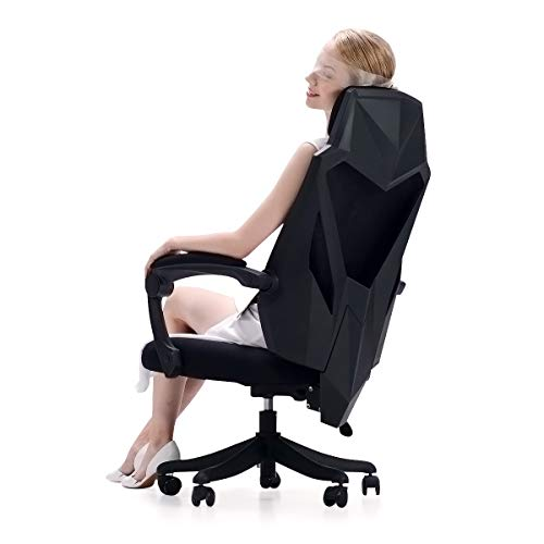 Hbada Office Desk Chair with Reclined Integrated Backrest, High Back Mesh Home...
