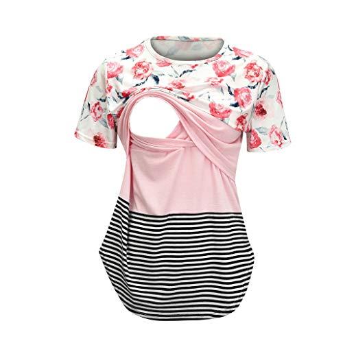Women's Nursing Tops Short Sleeve Breastfeeding Clothes