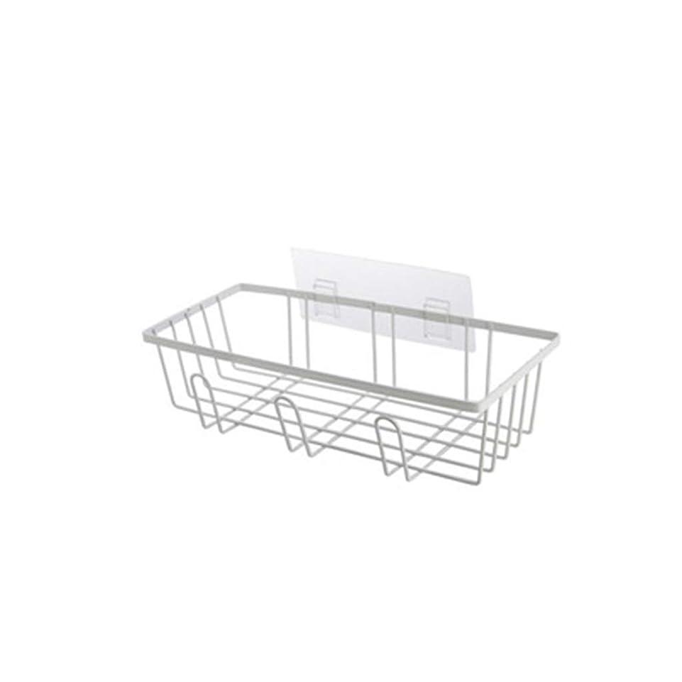 部分的に鷲意味のあるSGLI ドレンラック鍛造鉄家庭用キッチンアクセサリー無孔壁掛けシンク収納ラック-黒、白 (Color : White)