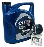 Pack combinado Aceite Motor Elf Evolution 900 FT 5 lts + Filtro aceite OEM 8200257642