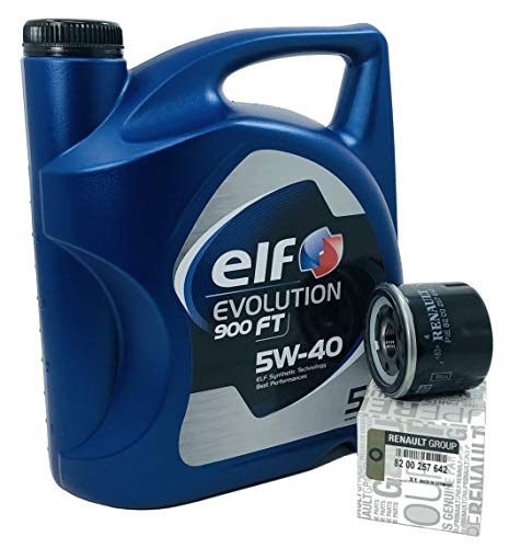 Duo Servicio - Elf Evolution 900 FT 5 lts + Filtro aceite Original 8200257642