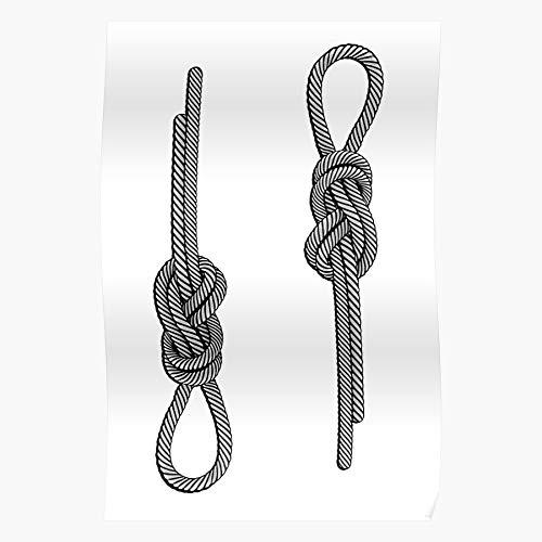 Vintage Rockclimbing Knot Node Hemp Eighth Old Rope Climb Home Decor Wall Art Print Poster !