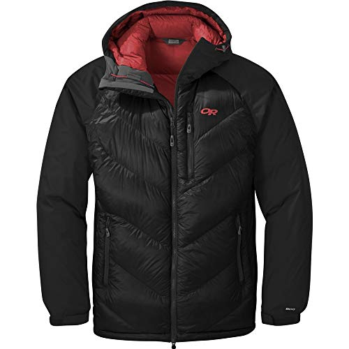 Outdoor Research Men's Alpine Down Hooded Jacket, Black, Large