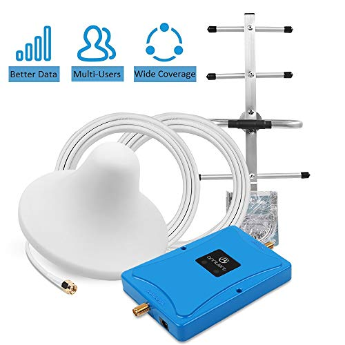Cell Phone Signal Booster for Home and Office - Boosts Verizon AT&T T-Mobile 4G LTE Voice and Data - Dual 700MHz Band 12/13/17 Cellular Repeater with High Gain Ceiling/Yagi Antennas