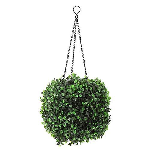 DOACT Solar LED Rattan Ball Lights Hanging Simulation Plastic Green Leaves Ball Decorative Lights Home Decoration