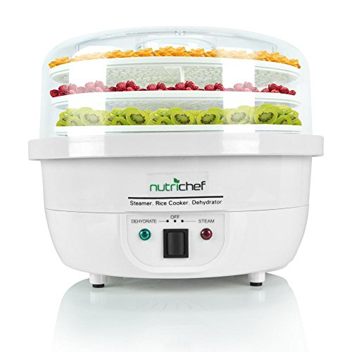 %6 OFF! NutriChef Food Dehydrator Machine and Professional Electric Steamer, Cooker, Meat Preserver,...