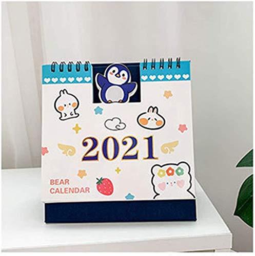 Calendarios 2021 Calendarios 2021 Escritorio Calendario Kawaii Desktop Paper Calendario Cuaderno Diario Programador Tabla Planificador Agenda Anuario Organizador Oficina Suministros Mensual Planificad
