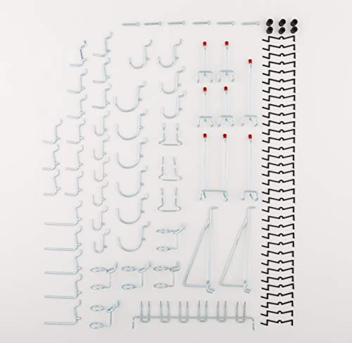 National Hardware S819-841 CD8377 51 Piece Peg Board Hook Kit in Zinc,51-piece kit