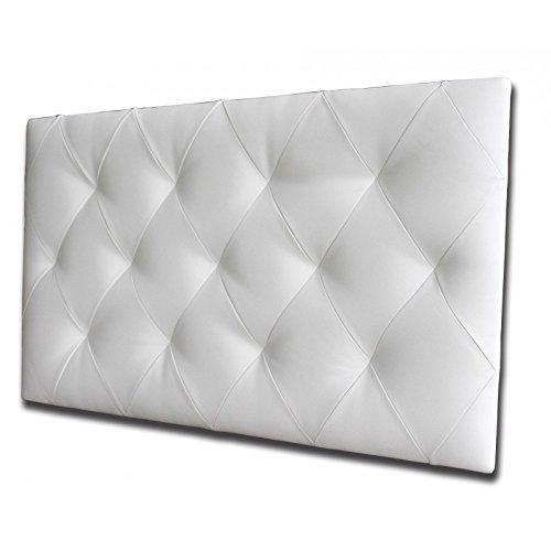 Ventadecolchones - Cabecero Tapizado Acolchado de Dormitorio Modelo Diamond en Tela Antimanchas Essence Gris Antracita y Medidas 136 x 70 cm para Camas de 120 ó 135